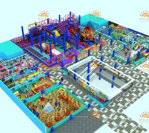 室内儿童乐园案例展示|通辽向阳儿童主题亲子乐园