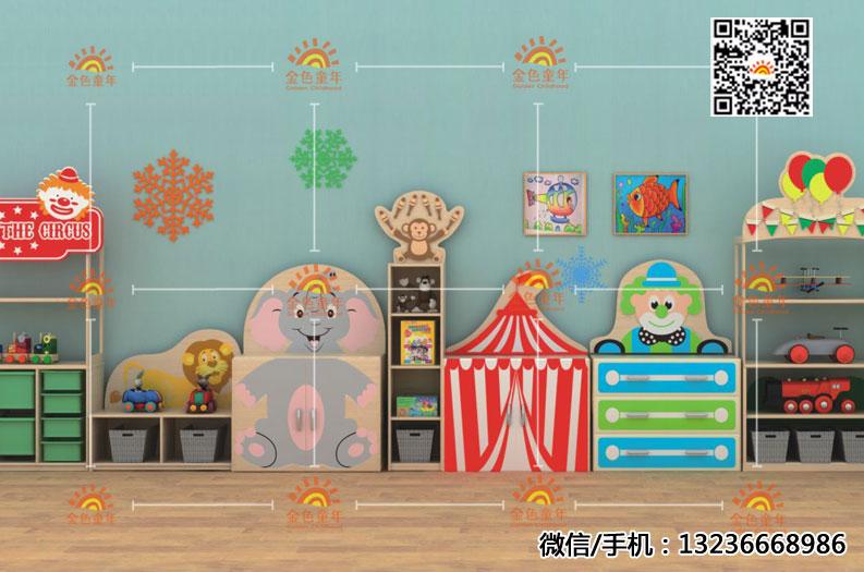 幼儿园教室储物柜