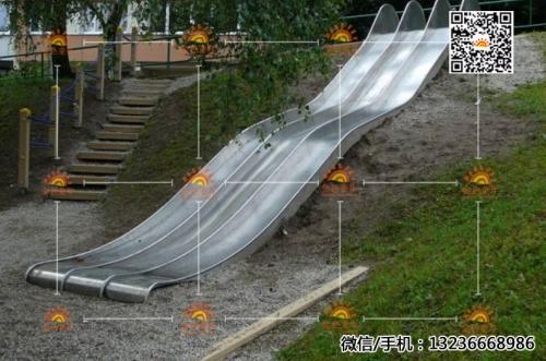 不锈钢滑梯07