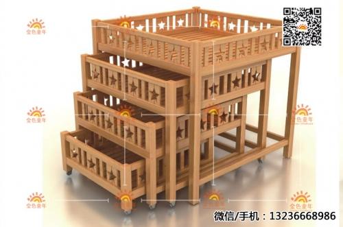 幼儿园实木床定制